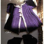 Petit gilet : modèle L'encre violette