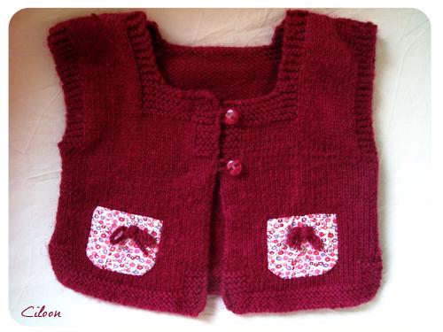 Petit gilet sans manches phildar tricoter calin 29