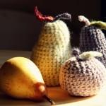 Pommes, poires au crochet