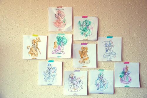 mur de coloriage