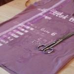 DIY une petite corbeille dans un vieux T-shirt