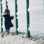 Fin de vacances dans la blancheur de l'hiver